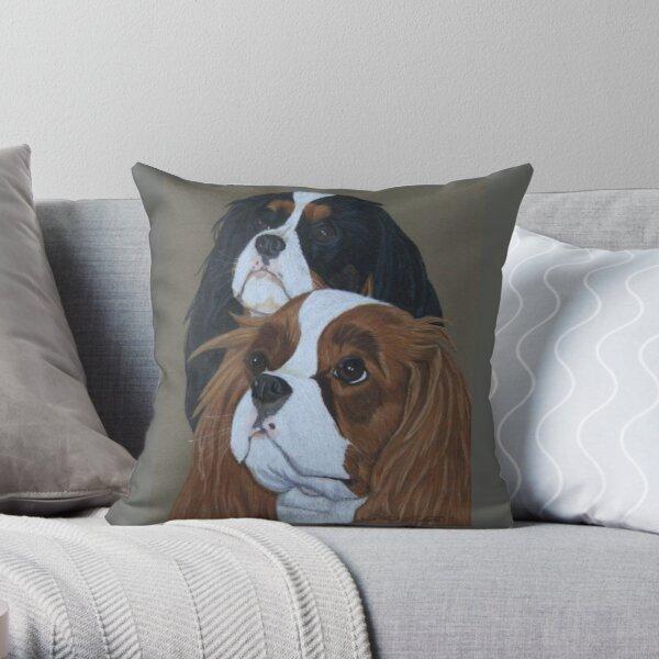 Cavalier King Charles Spaniels Throw Pillow