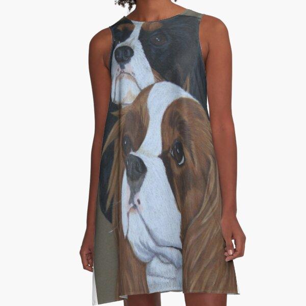Cavalier King Charles Spaniels A-Line Dress