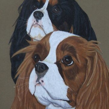 Cavalier King Charles Spaniels by putmanart