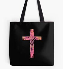 The Cross (Pink Theme) Tote Bag