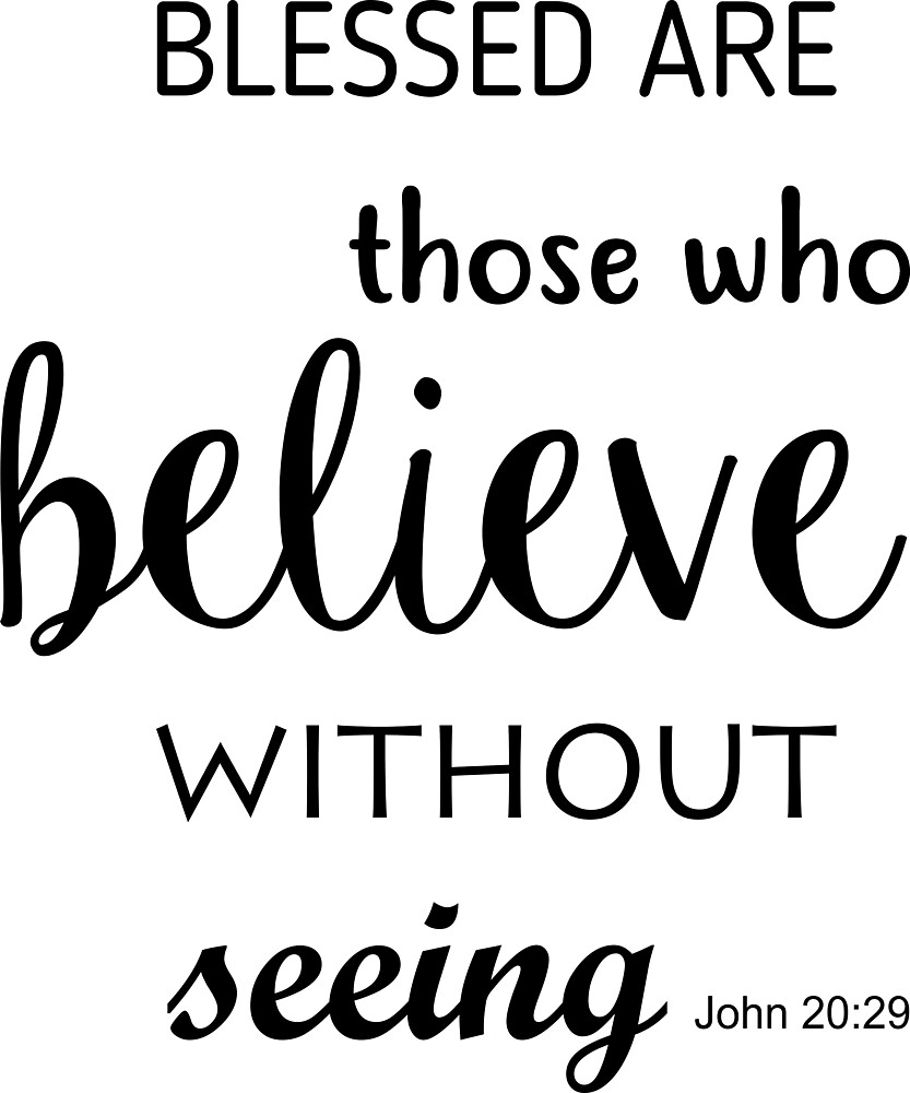 Blessed are those who believe by marcelacast