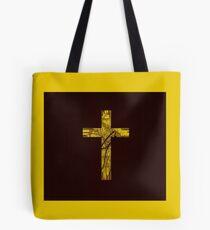 The Cross (Yellow Theme) Tote Bag