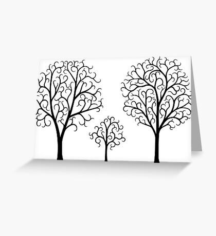 Small Tree Family Greeting Card