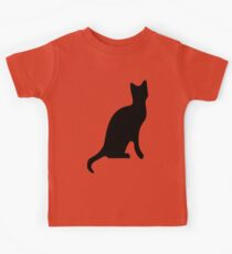 Halloween Black Cat Smooth Silhouette Kids Clothes