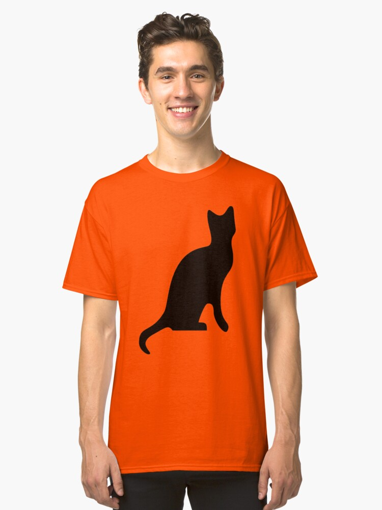 Black Cat Smooth Silhouette Classic T-Shirt Front