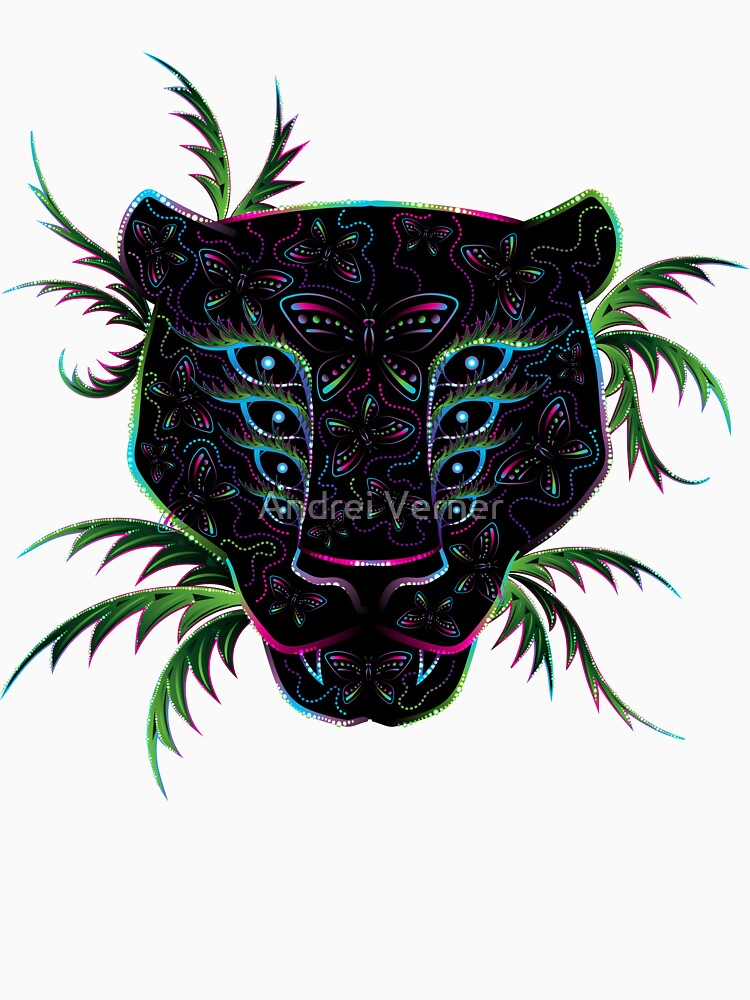 Psychedelic Ayahuasca Black Jaguar Spirit Shaman Animal by grebenru