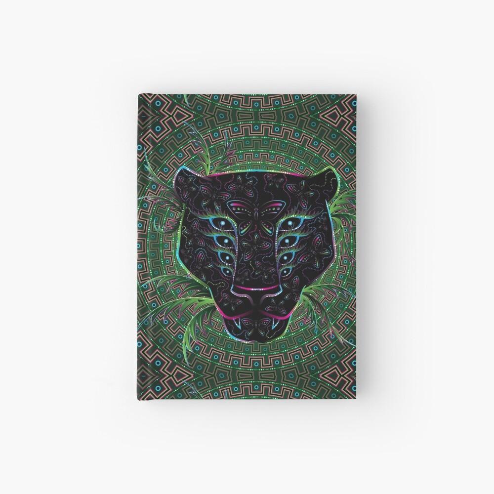 Psychedelic Ayahuasca Black Jaguar Spirit Shaman Animal Hardcover Journal