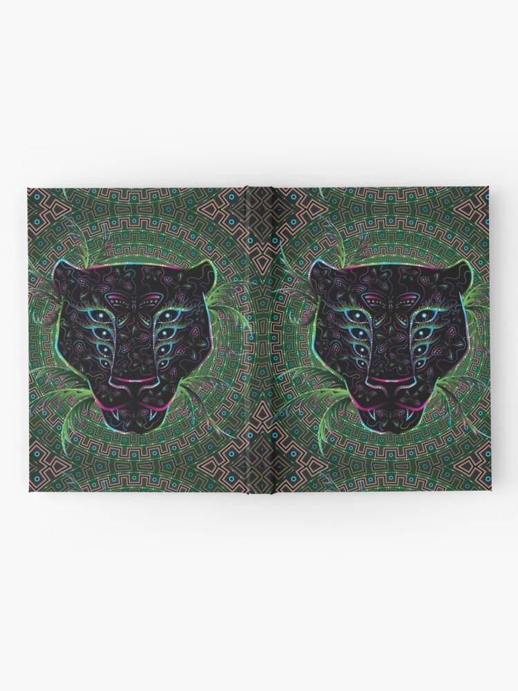 Alternate view of Psychedelic Ayahuasca Black Jaguar Spirit Shaman Animal Hardcover Journal