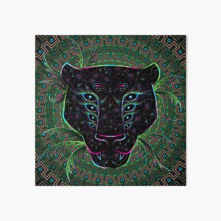 Psychedelic Ayahuasca Black Jaguar Spirit Shaman Animal Art Board Print