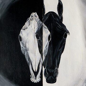 Horse and Skull by WildestArt