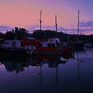 Brunswick Heads Boats  #4  by Virginia McGowan