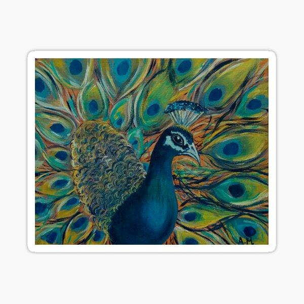 The Petulant Peacock  Sticker