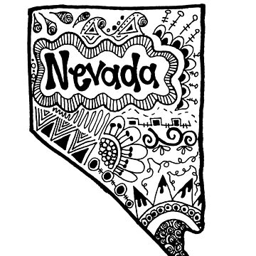 Nevada State Zentangle by alexavec
