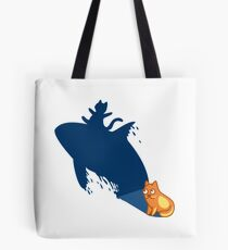 Funny Cat Surfer Tshirt -Cat Gifts for Cat and Whale Lovers  Tote Bag