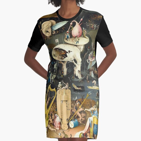 HD Hell, by H. Bosch HIGH DEFINITION  Graphic T-Shirt Dress