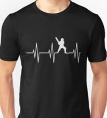 Funny Cricket design ,Perfect heart beat Tshirt Unisex T-Shirt