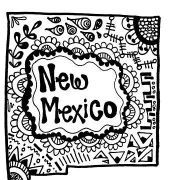 New Mexico Zentangle by alexavec