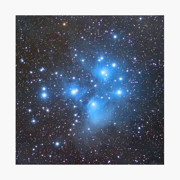 M45 - Pleiades (Seven Sisters) Photographic Print