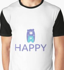 Happy Teddy Bear Graphic T-Shirt