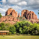 Cathedral Rock and Out Building by eegibson