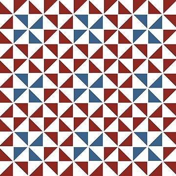 Pinwheel Design in Red, White and Blue by JoniandCo