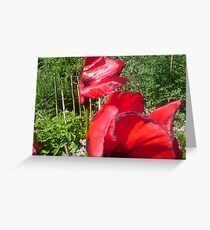 poppy in the wind  Greeting Card