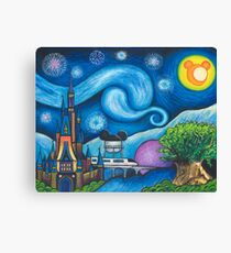Starry Night Over the World Canvas Print