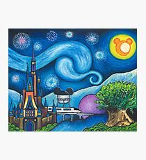 Starry Night Over the World Photographic Print