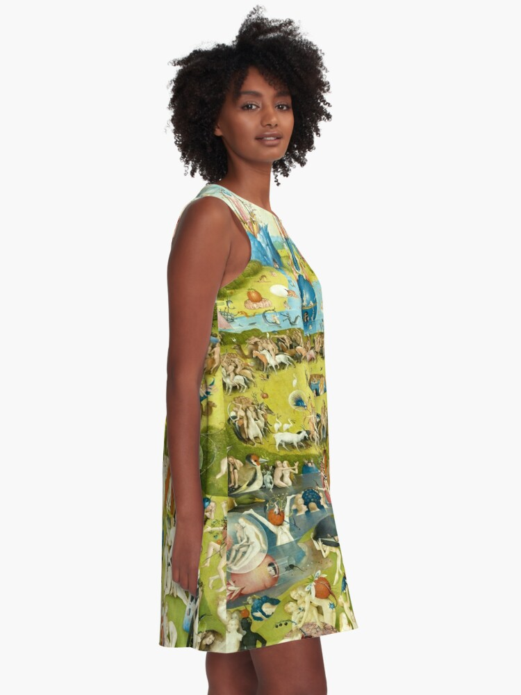 Alternate view of HD Garden of Earthly Delights, by Hieronymus Bosch HIGH DEFINITION A-Line Dress