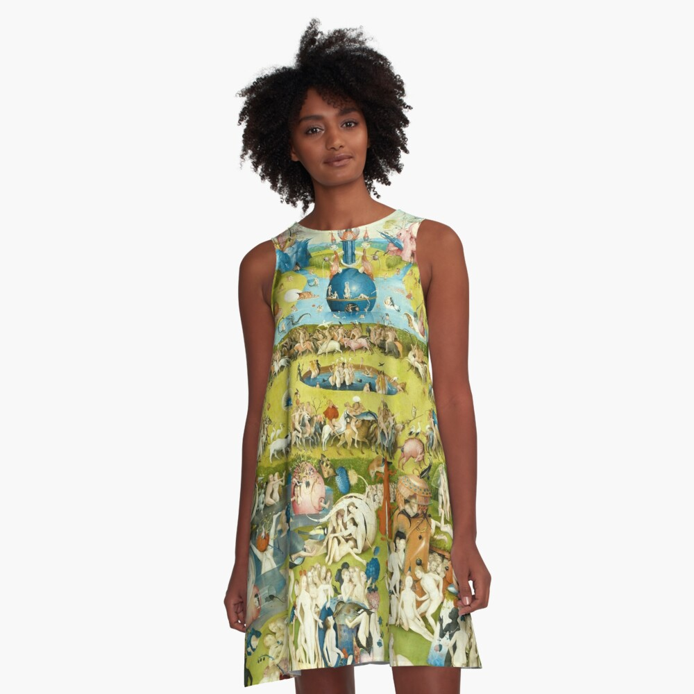 HD Garden of Earthly Delights, by Hieronymus Bosch HIGH DEFINITION A-Line Dress
