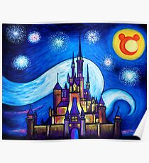 Starry Night Over The Castle Poster