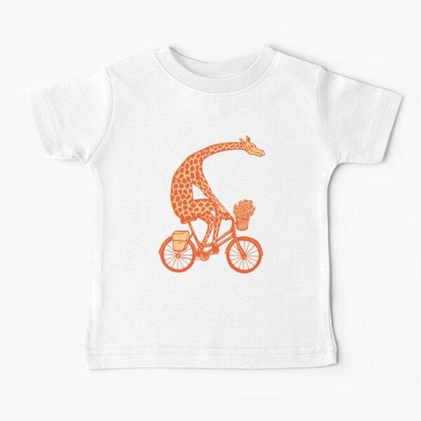 Giraffe on bike Baby T-Shirt