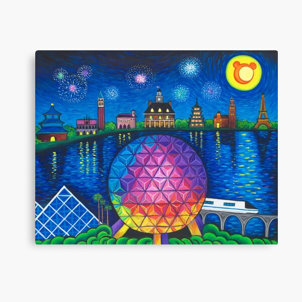 Starry Night Over Epcot Canvas Print