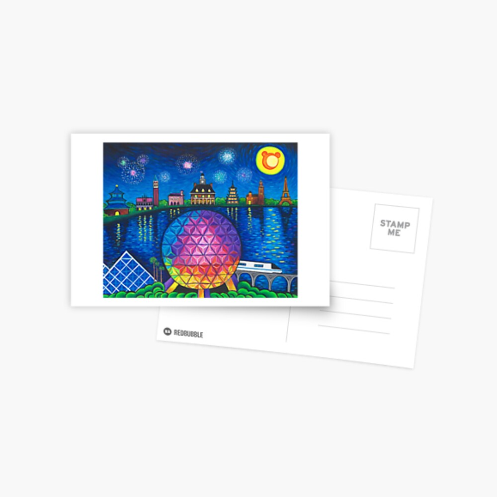 Starry Night Over Epcot Postcard