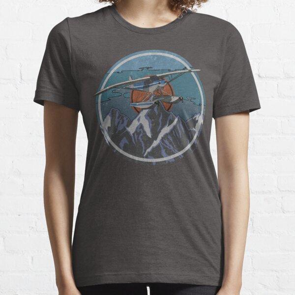 Piper Cub floatplane Retro Mountain's Design Essential T-Shirt