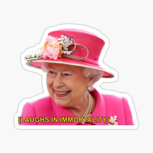 reine elizabeth immortelle Sticker