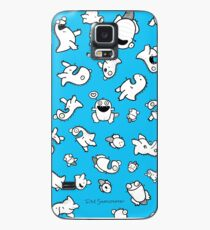 Dino-mite! (Cyan) Case/Skin for Samsung Galaxy