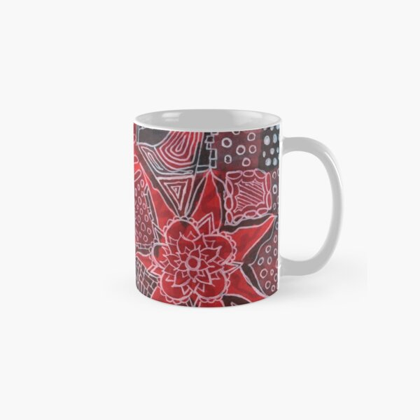 Red and Black Doodle Classic Mug