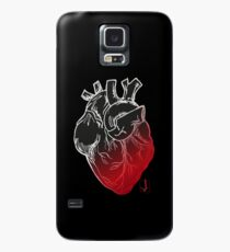 Black Heart Case/Skin for Samsung Galaxy
