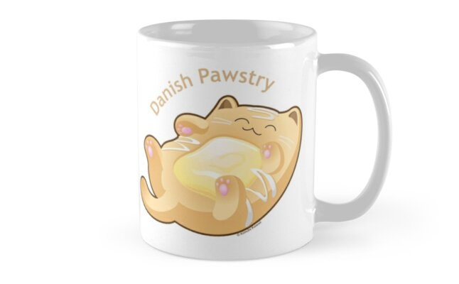 Cute Danish Pastry Cat by kimchikawaii