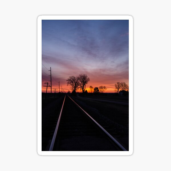 Railroad Sunrise Sticker