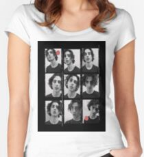timothee chalamet Women's Fitted Scoop T-Shirt