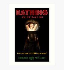 Bathing & the Single Girl Poster 3 Art Print