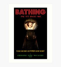Bathing & the Single Girl Poster 3 Art Print
