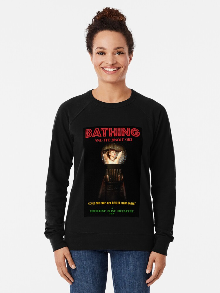 Alternate view of Bathing & the Single Girl Poster 3 Lightweight Sweatshirt