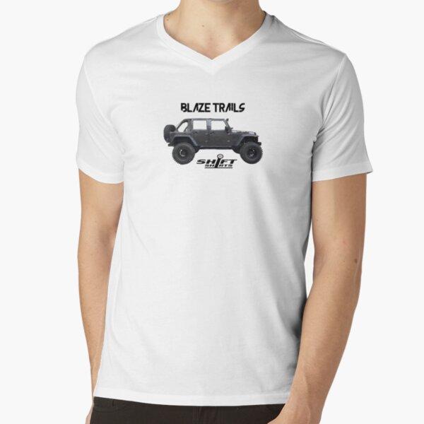 Shift Shirts Blaze Trails - Rubicon Inspired V-Neck T-Shirt