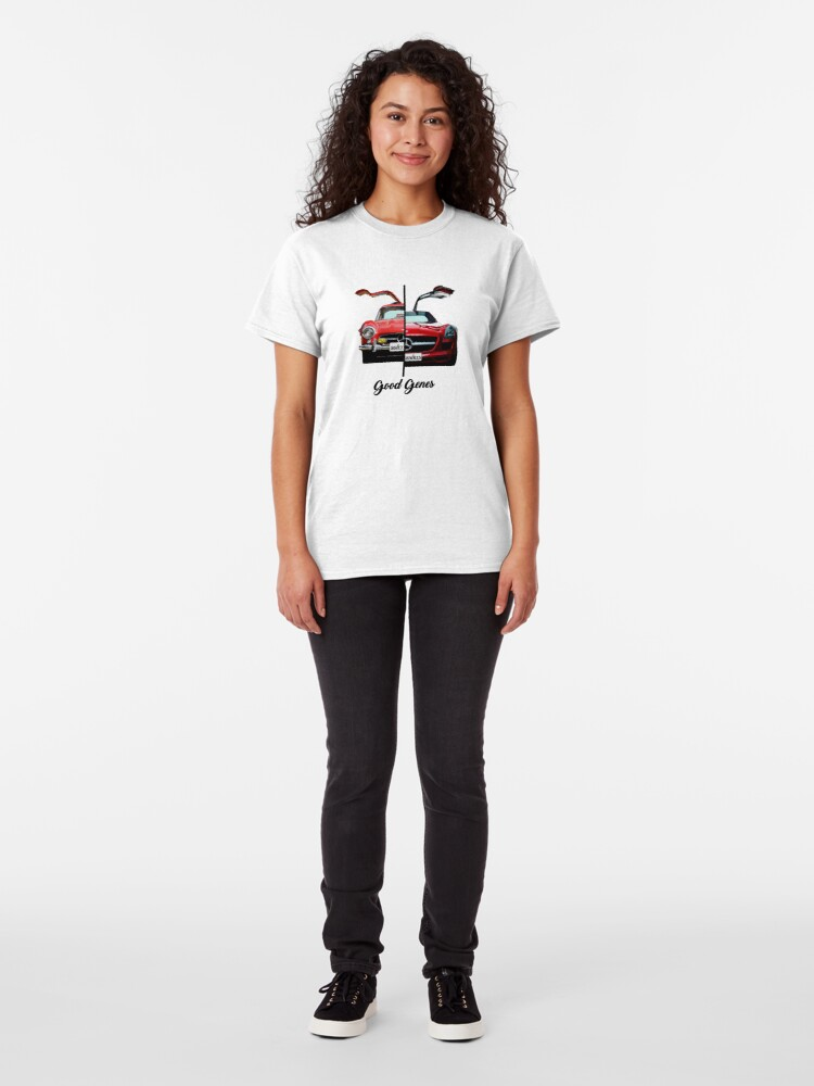 Alternate view of Shift Shirts Good Genes - 300L Gullwing Inspired Classic T-Shirt