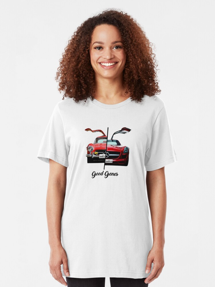 Alternate view of Shift Shirts Good Genes - 300L Gullwing Inspired Slim Fit T-Shirt