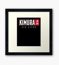 Jiu Jitsu Black Belt Kimura Light Gift Martial Arts BJJ Framed Print