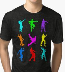 FORTNITE Emote Colorful Tri-blend T-Shirt